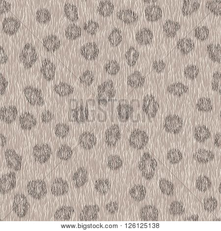 Seamless animal fur pattern. Leopard gray background for fashion design.