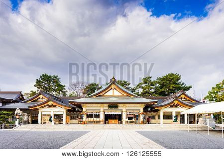 Hiroshima Gokoku Shrine in Hiroshima, Japan.