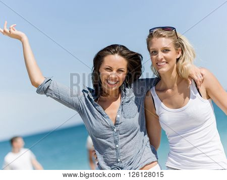 Picture women on the beach