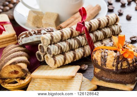 Biscuits on table