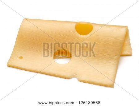 cheese slice isolated on white background cutout