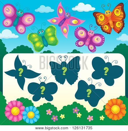 Butterfly riddle theme image 3 - eps10 vector illustration.