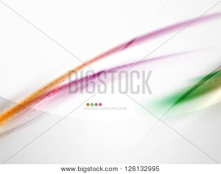 Blur glowing wave corporate business identity template. Vector concept