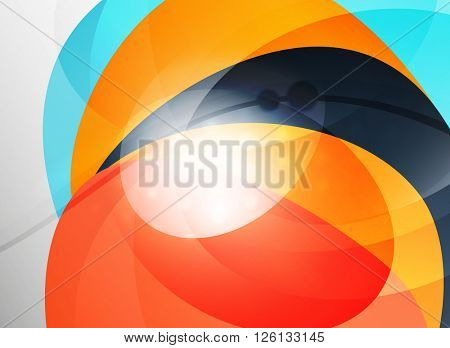 Modern curve stripes template, corporate business background