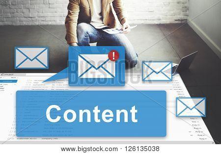 Content Blogging Data Internet Media Sharing Concept