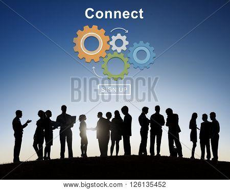 Connect Interaction Team Teamwork Concept