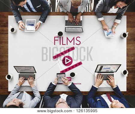 Films Multimedia Entertainment Cinematography Concept