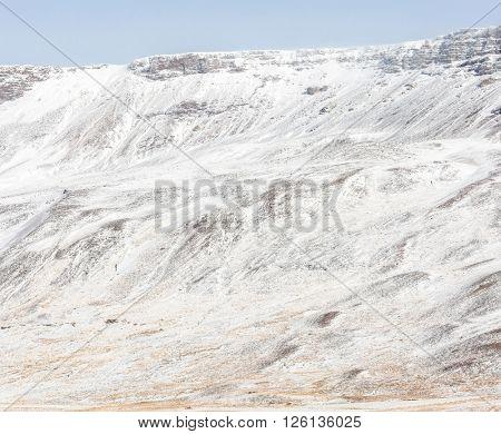 Iceland Winter landscape snow mountain