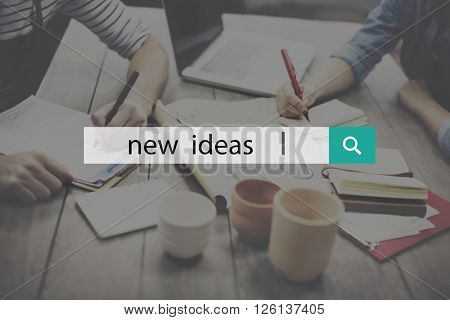 New Ideas Launch New Business Concept