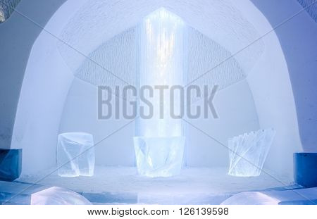 Ice Cathedral in Kiruna Sweden