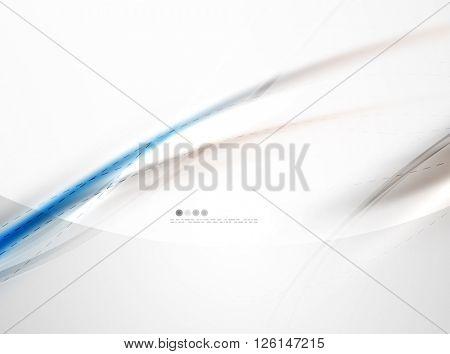 Blue glossy silk wave design template. Vector modern coporate identity pattern