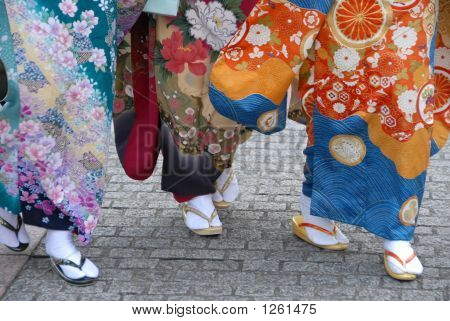 Group Of Japanese Women
