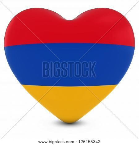Love Armenia Concept Image - Heart Textured With Armenian Flag