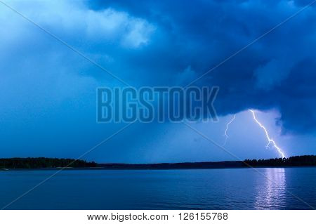 Thunderstorm. Thunderstorm  approaching towards the photographer and lightning activity is increasing