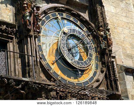 Detail of Astronomical Clock - Czech Republic, Prague, Old Town Square / Detail of Astronomical Clock- Czech Republic Prague Staromestske namesti