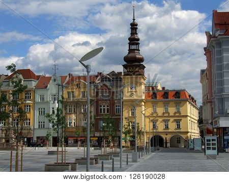 OSTRAVA, CZECH REPUBLIC - JULY 7: Old Town Hall on Masaryk Square, Today's Ostrava Museum building on July 7, 2007 in Ostrava, Czech Republic