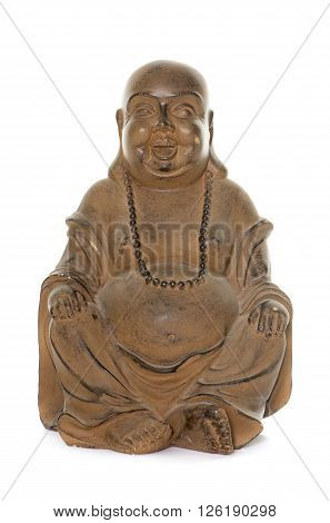 boudha statue in front of white background