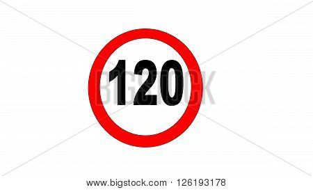 speed limit signs of 120 km per hour