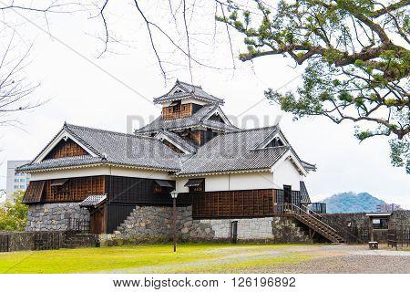 Vintage fort of kumamoto castle in kumamoto city kyushu japan.