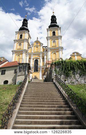 View of the Mariatrost Basilica in Graz Austria