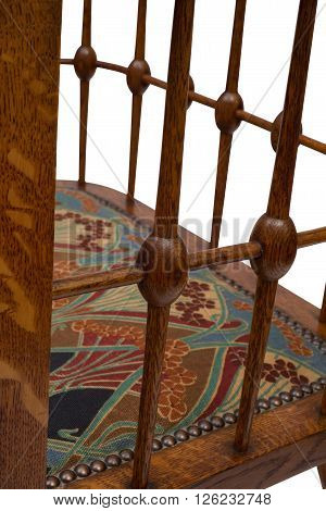 Backrest Spindles Of An Antique Wooden Dining Chair