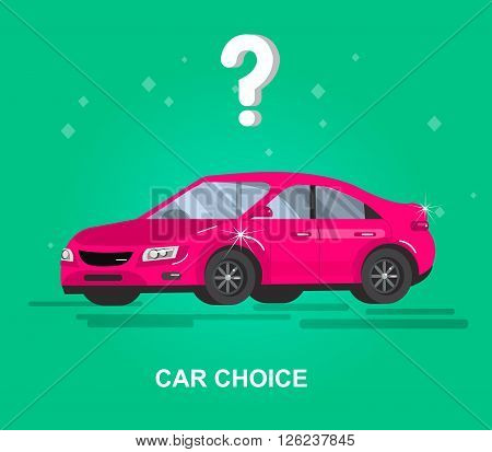 design concept of choice car and buying a car. Vector car, car cool flat, car  illustration. Vector  cool flat  illustration. Web banner template