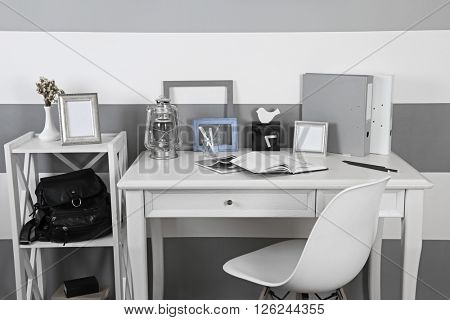 Stylish workplace at home