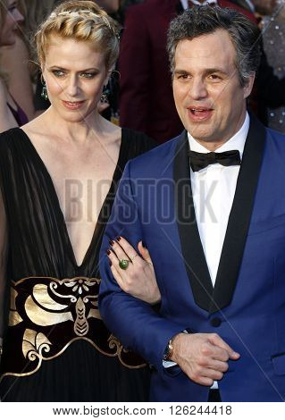 Sunrise Coigney and Mark Ruffalo at the 88th Annual Academy Awards held at the Dolby Theatre in Hollywood, USA on February 28, 2016.