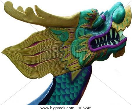 Hand Carved Dragon Boat