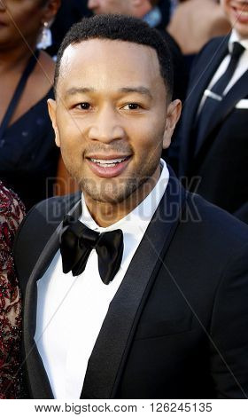 John Legend at the 88th Annual Academy Awards held at the Dolby Theatre in Hollywood, USA on February 28, 2016.