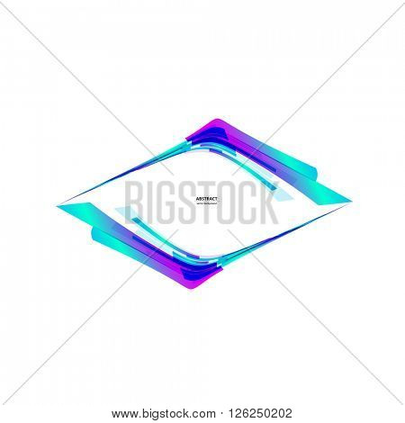 Abstract color light icon background Logo Abstract Business Technology icon