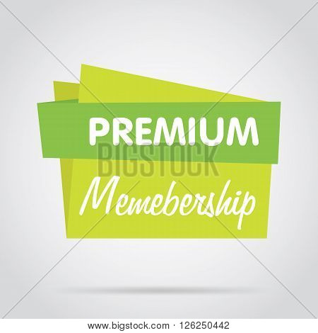 Premium membership vector banner. Promo offer. Isolated sticker. Special offer sale sticker in flat style. Special offer for membership. Membership. sign. Web sticker. Sale label. Advertisement sticker. Membership sticker template.