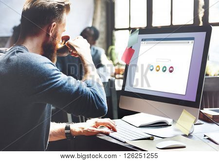 Search Engine Optimization Internet Connection Concept