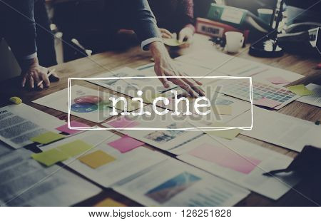 Niche Target Marget Advertising Competitive Concept