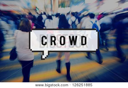 Crowd Audience Group Mass Mob Pack Funding Concept