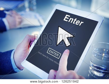 Enter Online Join Website Technology Concept