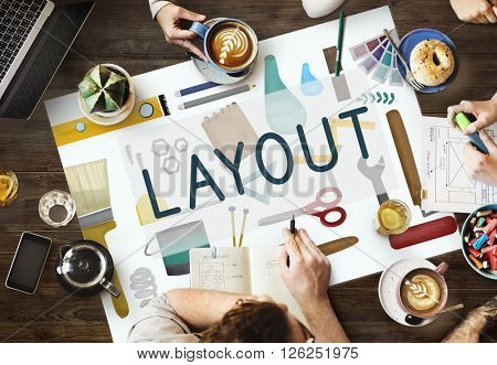 Layout Art Creative Design Organization Plan Concept