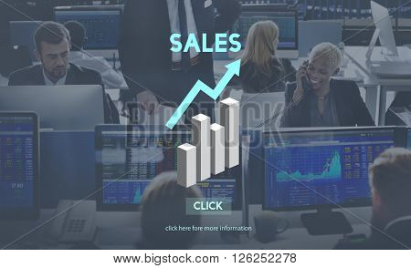 Sales Sell Selling Commerce Costs Profit Retail Concept