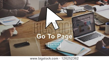 Go To Page Website Interface Concept