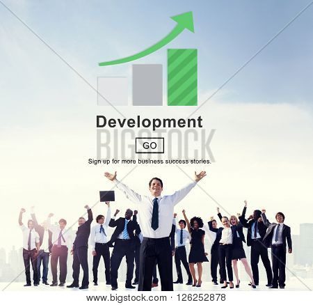 Development Management Business Solution Website Concept