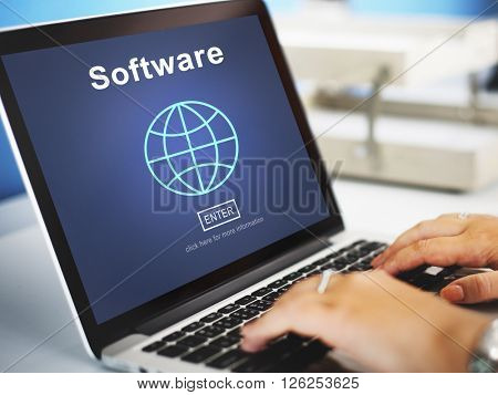 Software Computer Digital Data Homepage Concept