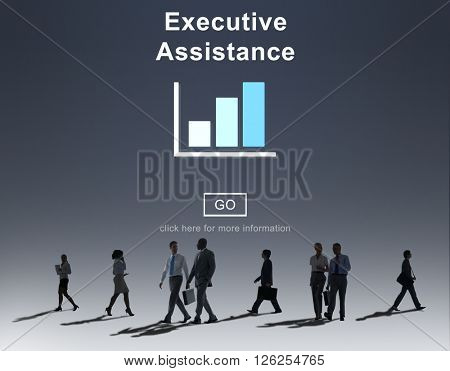 Executive Assistance Corporate Business Web Online Concept