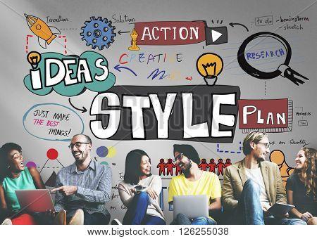 Style Design Ideas Designer Action Concept