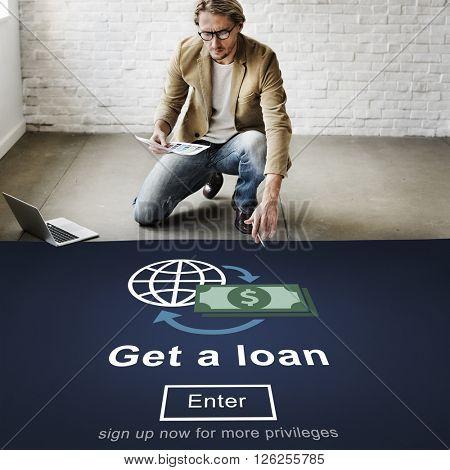 Loan Borrowing Budget Capital Credit Accounting Concept