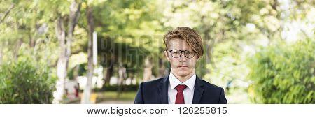 Businessman Confident Smart Lifestyle Concept