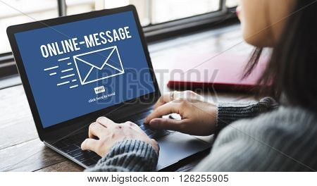 Online Message Global Communications Connection Concept