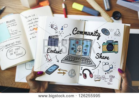 Community People Connection Social Network Concept
