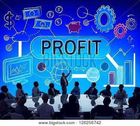 Profit Income Savings Banking Money Concept
