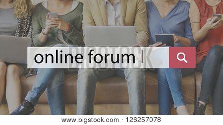 Online Forum Share Socialize Computer Concept