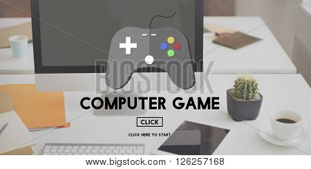 Computer Game Electronic Strategy Solution Sports Concept